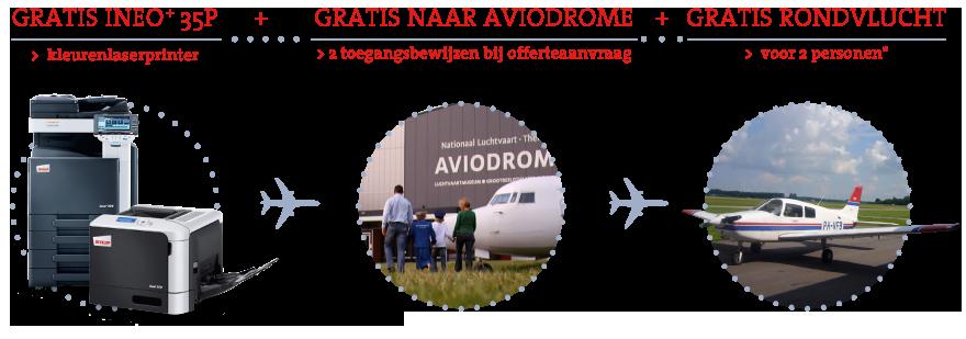 Gratis ineo+35P, gratis kaarten voor het Aviodrome én gratis rondvlucht